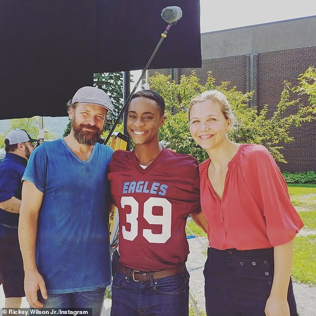 Cameo roles: The 43-year-old Oscar nominee and 50-year-old Golden Globe nominee play a TV reporter and his cameraman in Best Summer Ever (pictured with actor Rickey Wilson Jr. in 2018)