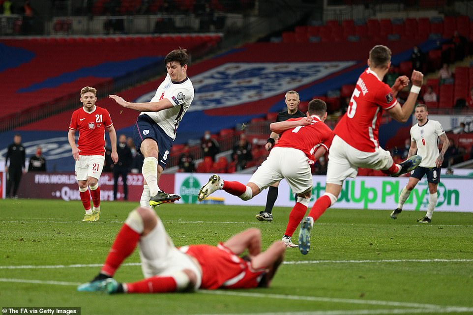 The Three Lions defender thumped home the winning goal with five minutes left on the clock to win it on Wednesday