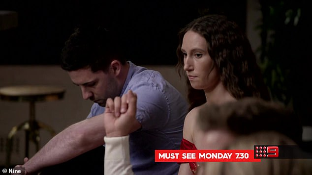Is everything okay? After this awkward moment at the dinner party, Patrick and Belinda are shown looking strained at the last commitment ceremony