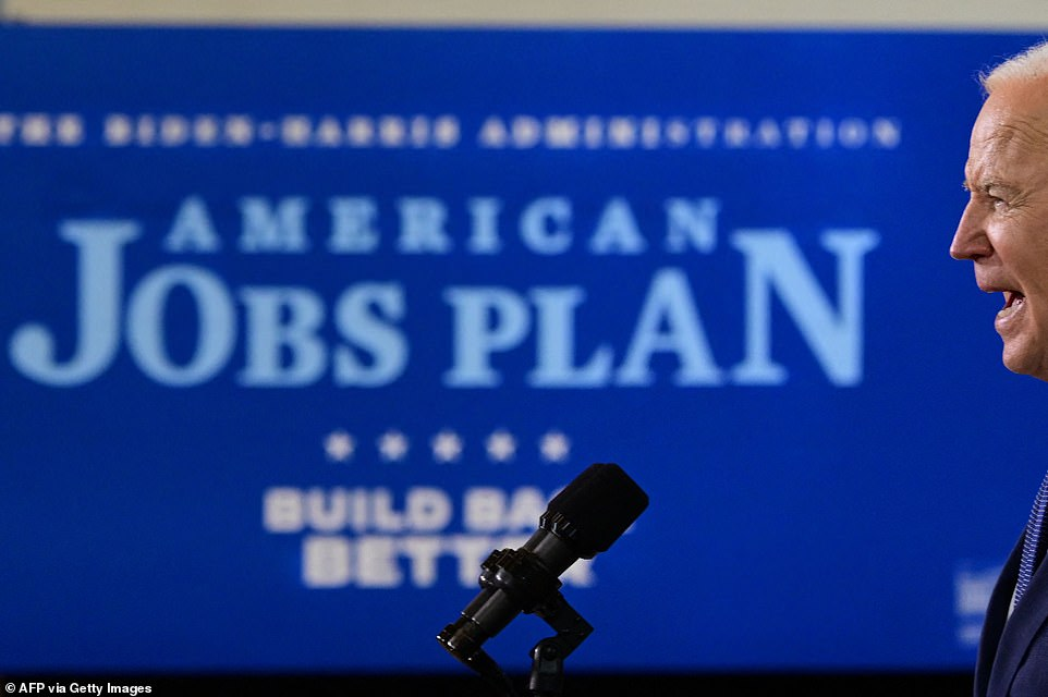 Biden speaks in Pittsburgh about the $2 trillion 'American Jobs Plan,' which will invest taxpayer dollars inroads, bridges, broadband technology, along with water projects, housing, and job training efforts