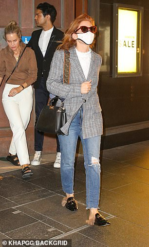 Retail therapy: They enjoyed aafter a private four-hour shopping spree. Pictured: Isla Fisher