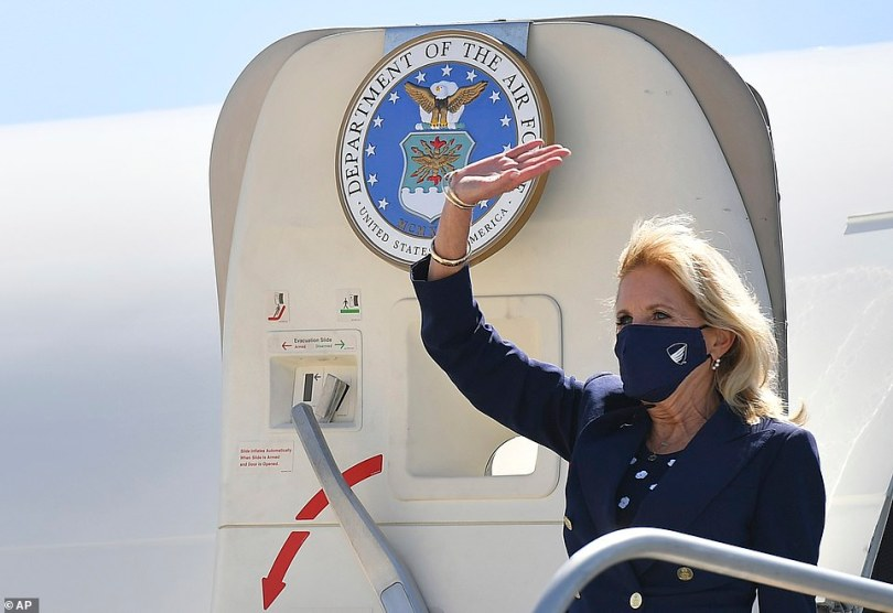 Jill Biden arrived in California on Wednesday to tout the White House's ties with labor