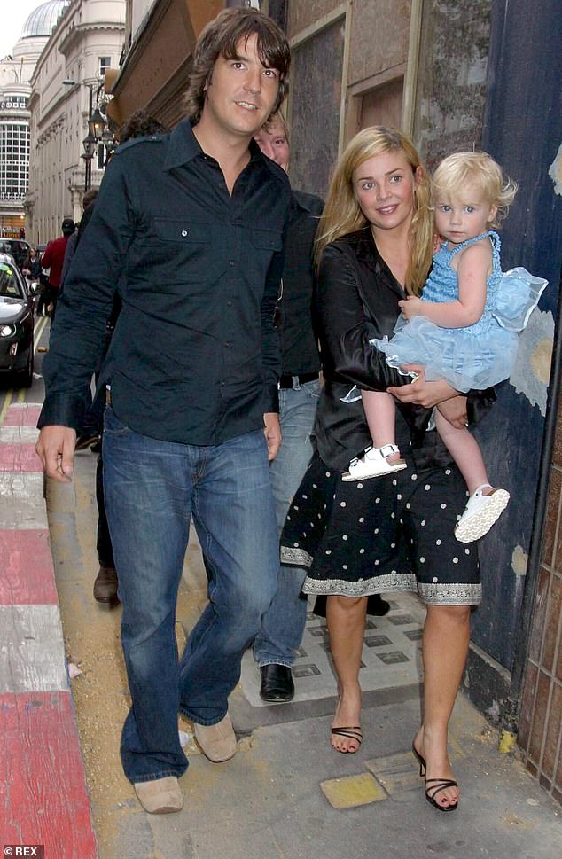 Looking for love: Gail revealed that she was not chosen to appear on the First Dates show, but that she played with the idea of joining a dating app to find love (pictured with ex-husband Dan Hipgrave and daughter Honey in 2004)