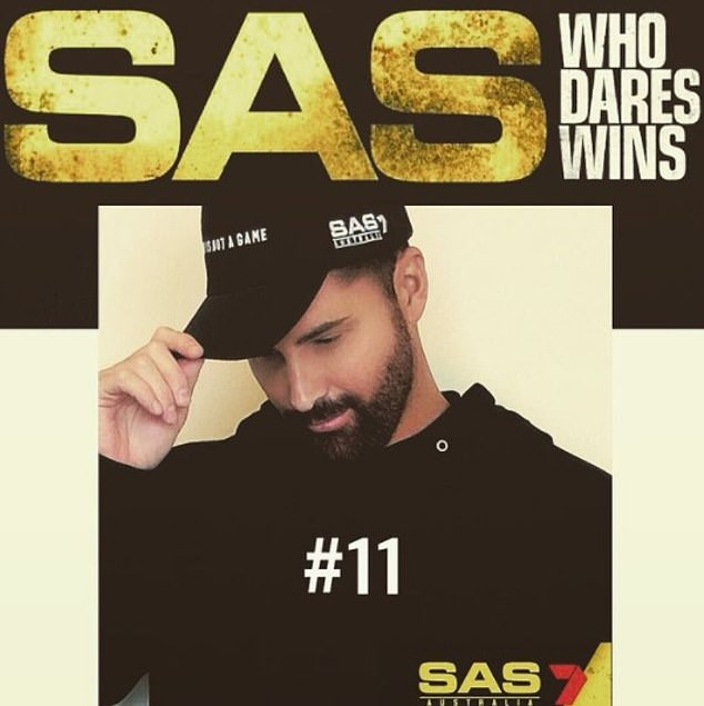 Big news! The 40-year-old shared this photo of himself wearing an SAS-branded hat and a black hoodie with the number 11 on the front