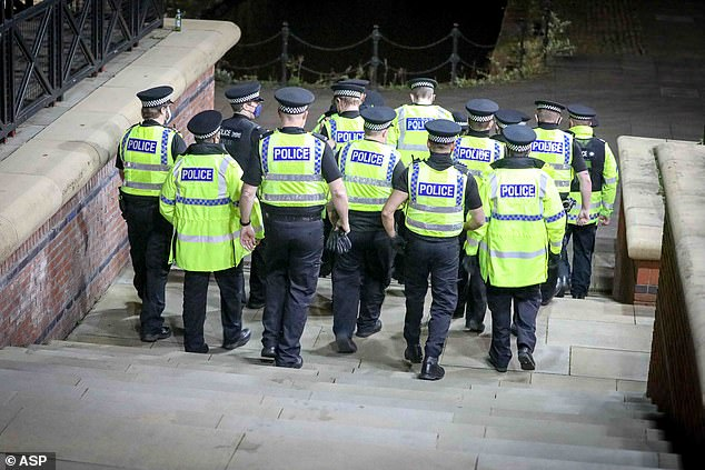 Officers arrived on the scene and dispersed the crowds by 10.20pm, Manchester Evening News reported