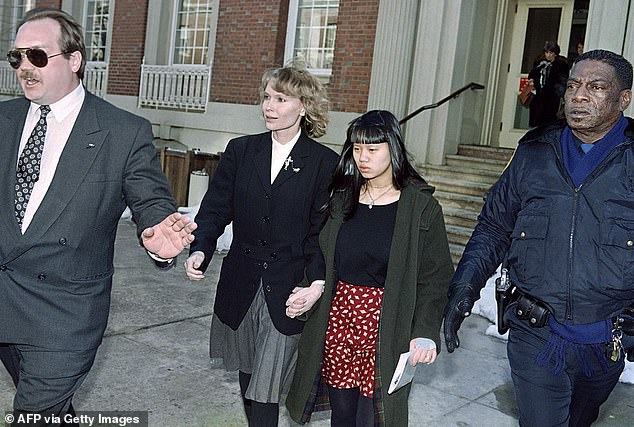 Farrow is seen with her daughter Lark in 1993. Lark died from HIV/AIDS in 2008, aged 38