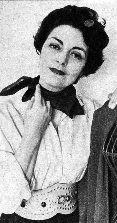 Italian actress and singer Lia Origoni, who headlined a February 1943 show at the camp in a production called Sunny South