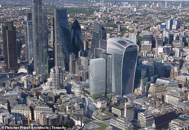 The 30-storey 55 Gracechurch Street (centre) has also been approved in the City, covering 786,000 sq ft of office space