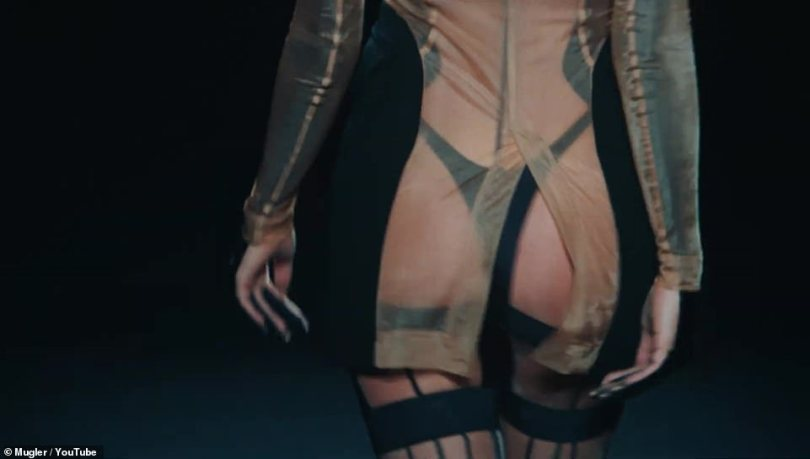 ...especially along the back, revealing a barely-there thong on Shayk's derrière