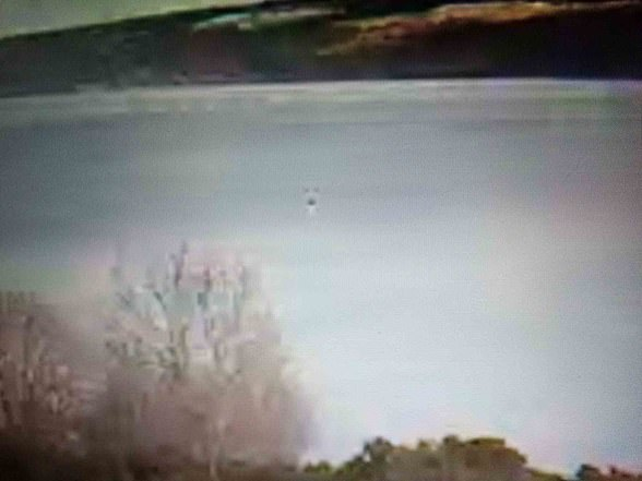 Also on January 22Mr O'Fagan, 56, said he noticed objects (above) 'rising up and down' near Urquhart Castle, where sightings of the mythical beast are at their highest