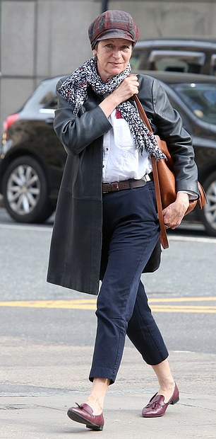 Anti-Semitic blogger Alison Chabloz (pictured outside court last month)