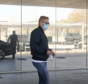 Erling Haaland's father Alfie (pic) and agent Mino Raiola arrived in Barcelona on Thursday morning