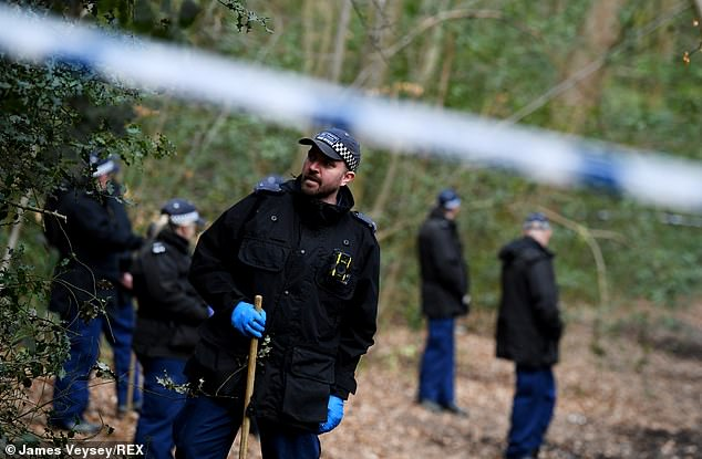 Parts of the forest have been cordoned off as officers from Metropolitan Police search the area