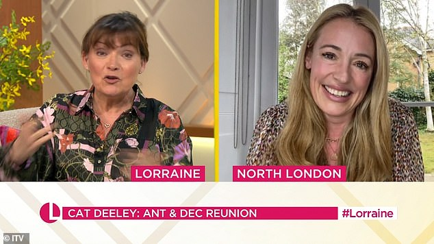 Departure: The presenter is filling in for veteran broadcaster Lorraine Kelly (pictured) for five shows this week and gushed she was looking forward to reuniting with some 'old friends'