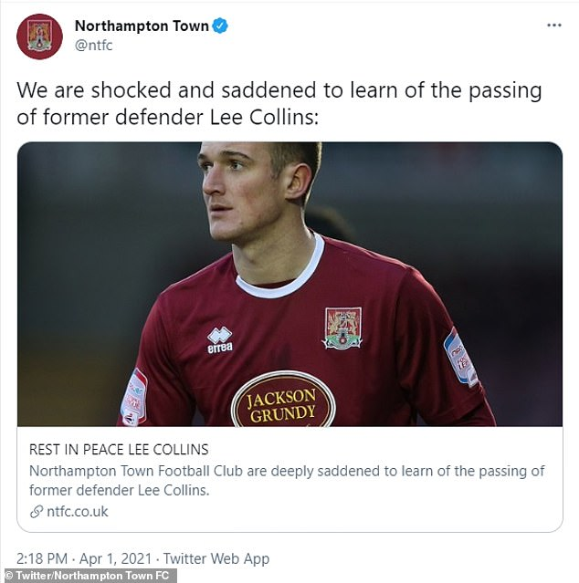 His former club Northampton Town were among many to tweet out tributes after the sad news