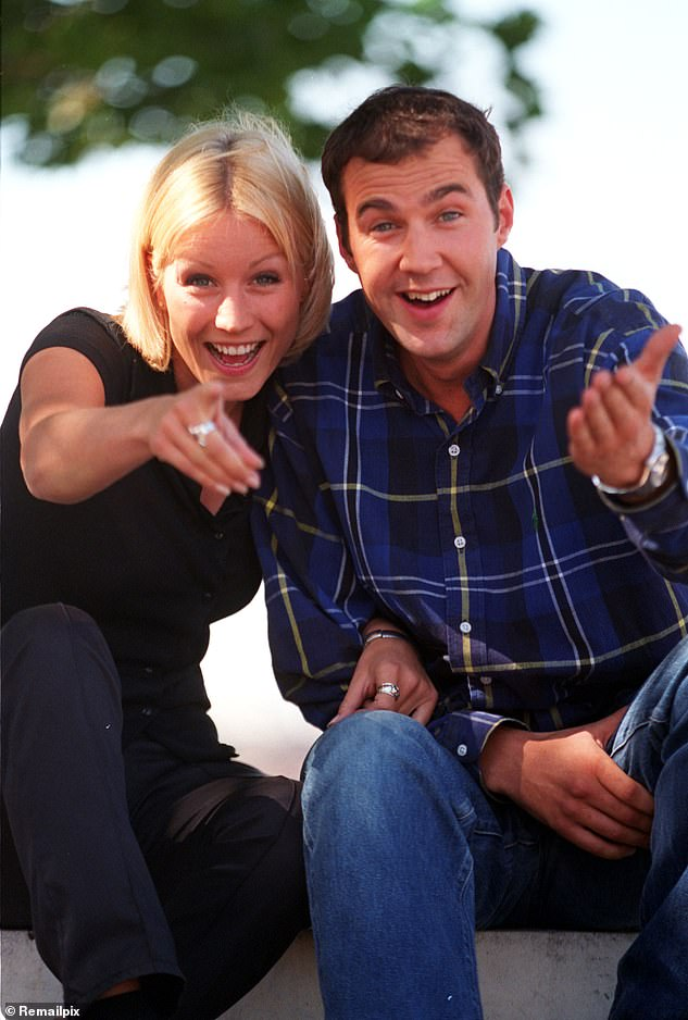 They're back! Denise Van Outen and Johnny Vaughan are hoping to return as hosts of classic morning show The Big Breakfast. Pictured together on the show in the 1990s