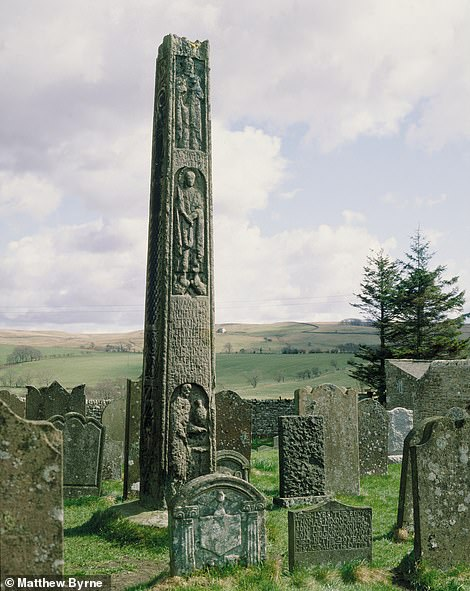 ST CUTHBERT'S CHURCH AT BEWCASTLE: 'The Bewcastle Cross of 700–750 AD stands in a remote hamlet in the wide, rolling hills of the Cumbrian border country,' says Matthew. 'There is nothing as perfect as this of a comparable date in Europe'