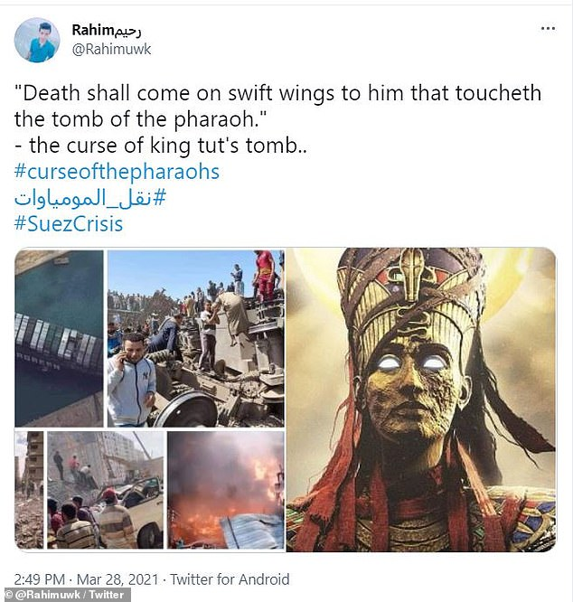 The procession has also caught the attention of social media users who point out news of the event coincided with a number of strange incidents last week that some are blaming on Pharaoh's curse