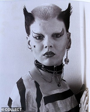 Iconic look: Soo Lucas, who dubbed herself Soo Catwoman, is known for her trademark haircut which she created in 1976 to look like she had cat ears