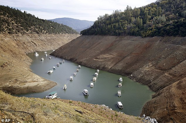 California reservoirs sit at below historical averages due to a lack of winter storms and less snowpack in the Sierra Nevada