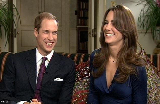 It's been revealed that William privately made clear that he would not follow the Queen's policy of never giving an interview when he becomes King. He is pictured above with Kate announcing their engagement in 2010
