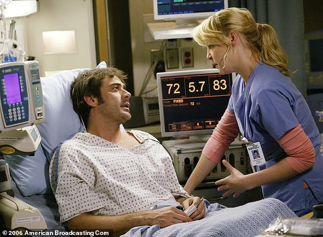 Forward and Above: Morgan embarked on a successful career in film and television after assuming his role in Star Trek: Enterprise;  he is seen with Katherine Heigl in a 2006 episode of Grey's Anatomy