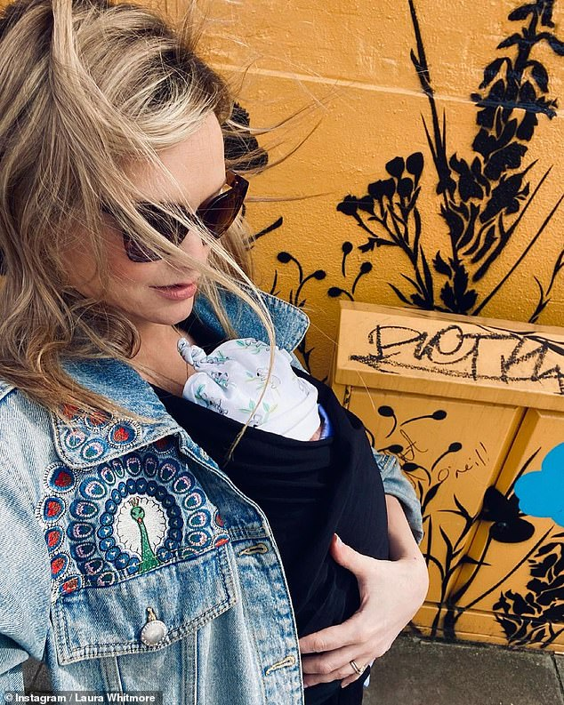 'We are in love':It comes after Laura posted the first image of her newborn baby girl to Instagram on Friday