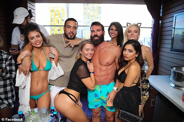 He also claimed to have locked horns with the so-called 'King of Instagram' Dan Bilzerian (pictured shirtless), a poker playing socialite and influencer with 29 million followers