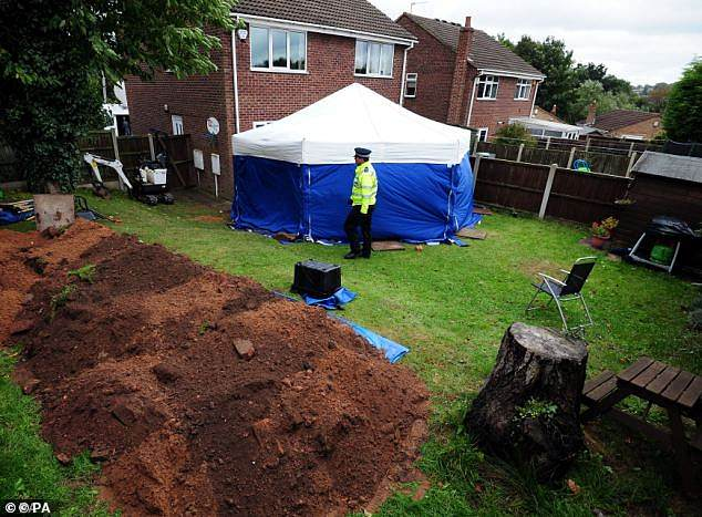 Susan and Christopher regularly travelled from their home in Dagenham, east London to the property on Blenheim Close to maintain the garden, with Mr Edwards posing as a nephew. Pictured: The scene in 2013