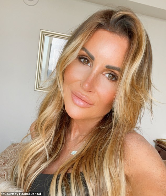 The site was also used by Tiger Woods' mistress Rachel Uchitel (pictured) to meet her married boyfriend and San Diego lawyer Ed Batts, 47