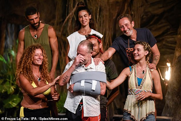 Emotional:He couldn't contain his emotion as he burst into tears upon his return on Thursday's episode and said that he missed the other contestants 'more than anything else in the world'