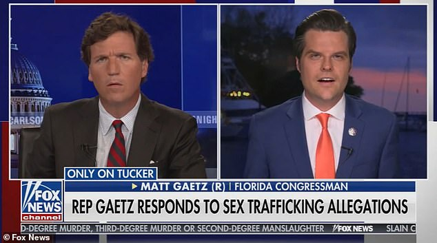 Gaetz accused David McGee, an attorney at Beggs & Lane law firm and the former lead attorney for the DOJ's Organized Crime Task Force, of trying to extort millions from him and his family in exchange for making sex trafficking allegations 'go away' on Fox News Tuesday