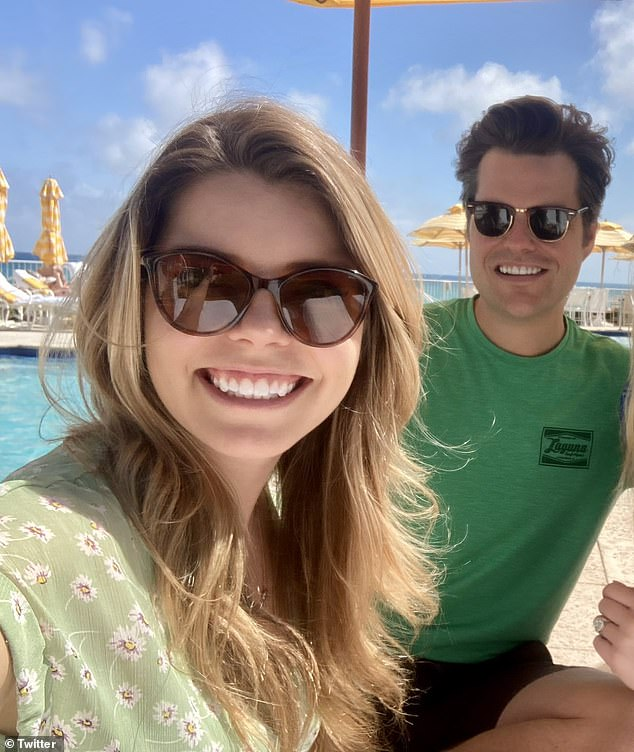 Ginger Luckey and Matt Gaetz. Gaetz got engaged to food analyst Luckey, 26, in December at Donald Trump's Mar-a-Lago