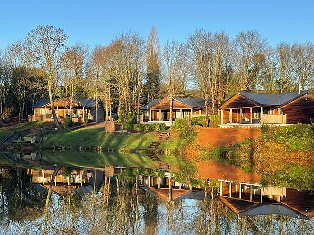 The South View Lodges site (pictured) at Shillingford St George, near Exeter, Devon, comprises of five lodges set in six acres