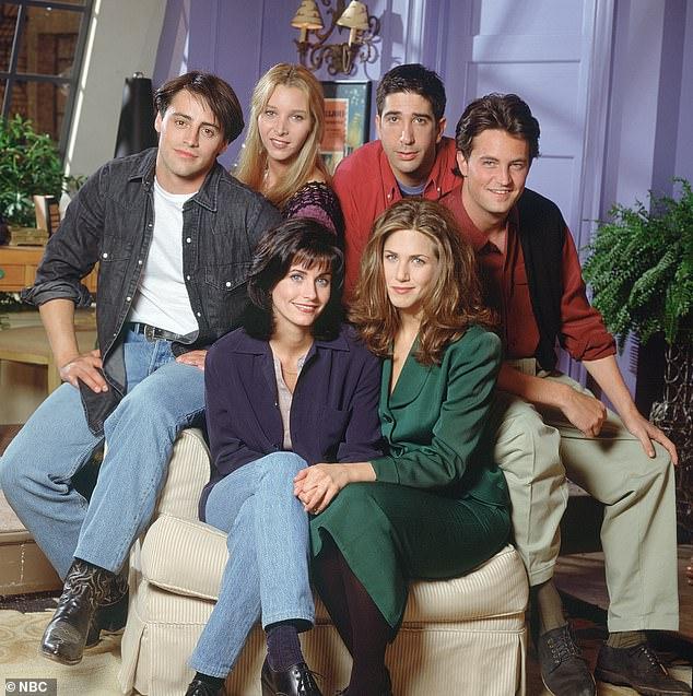 Back together: (L-R) Matt LeBlanc, Lisa Kudrow, Courteney Cox, David Schwimmer, Jennifer Aniston, and Matthew Perry will finally shoot the much-delayed reunion