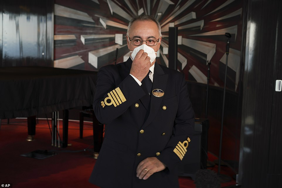 Raffaele Piontecorvo, captain of the MSC Grandiosa, has run keep the cruise ship going as one of the world's only vessels still operating in spite of the pandemic