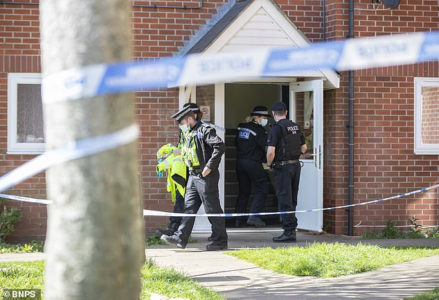Detectives believe that the woman was deliberately killed at her house in Weymouth by a man who then fled the scene (pictured taken today)
