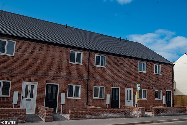 The house is one of six homes which has been completed on the Main Street in Stapenhill