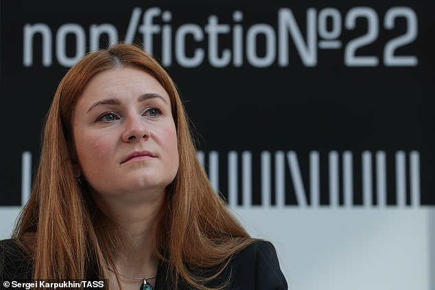 Former spy Marina Butina who is now working for the state-backed RT news channel, a propaganda outlet for the Kremlin