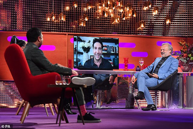 LA: The actor, who played Ross Geller in the comedy, told host Graham Norton, 'I'm going to LA to shoot the Friends Reunion. I will get to see everyone for the first time in years'