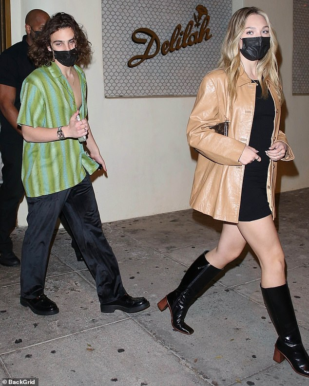 Better together: Maddie Ziegler and Eddie Benjamin were spotted heading to the release party for the musician's debut EP in West Hollywood on Thursday evening