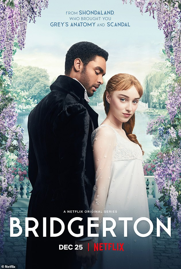 Success: Bridgerton debuted on Christmas Day and has remained in the top spot on Netflix's most-watched list ever since, proving to be a mammoth success