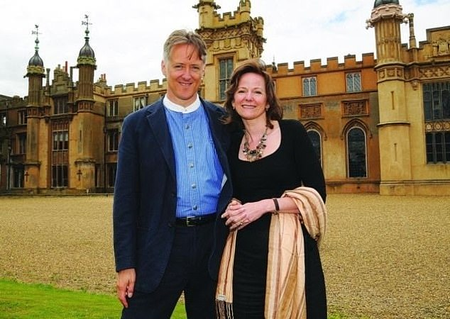 Martha Lytton Cobbold,56, whose daughter is Burberry model Morwenna, pictured with her husband and screenwriter Henry