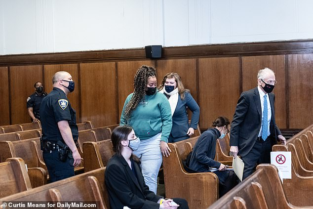 Jessenia Fajardo, 38, is pictured at her sentencing in Manhattan Supreme Court on Friday