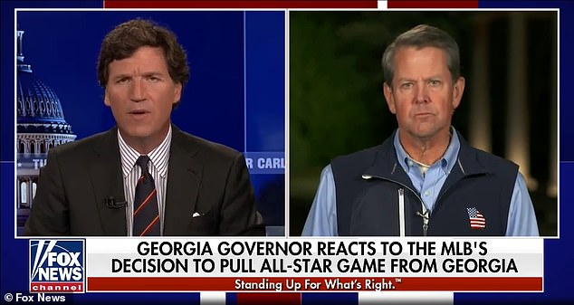 Georgia Gov. Brian Kemp blasted cancel culture after MLB pulled its All-Star Game from the state over its new voting law