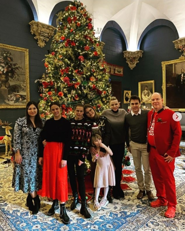 In December,Princess Charlene posted a series of festive snaps of her family Christmas, which were interpreted as a show of unity