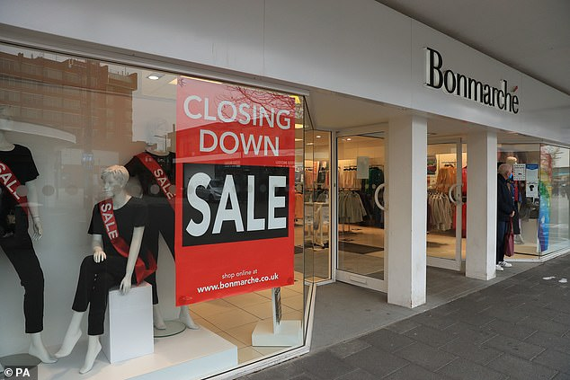 Shoppers will find high streets and town centres have been hit hard by the pandemic with thousands of stores shutting their doors for good (Bonmarche store closing down)