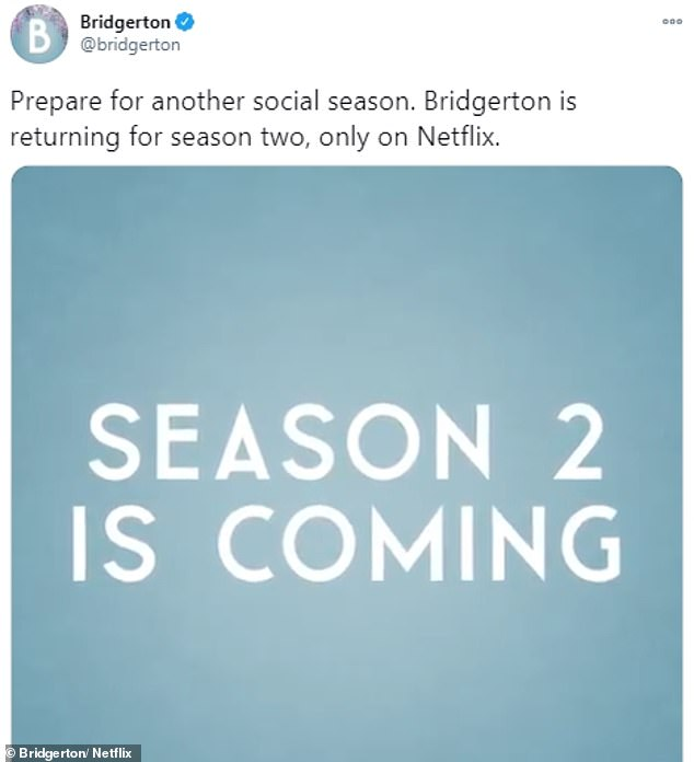 Hooray! Bridgerton was officially renewed by Netflix for series 2 in January after weeks of speculation
