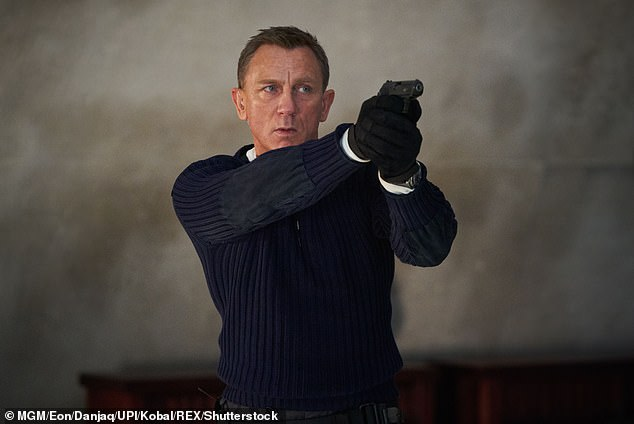 007? In January, the actor was the bookies favourites to take on 007 after he hinted he could be a good contender to succeed Daniel Craig (pictured in No Time To Die)