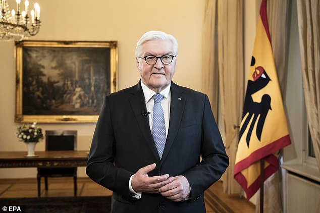 Germany's president Frank-Walter Steinmeier said the country is enduring a 'crisis of trust' and urged people to 'pull together'